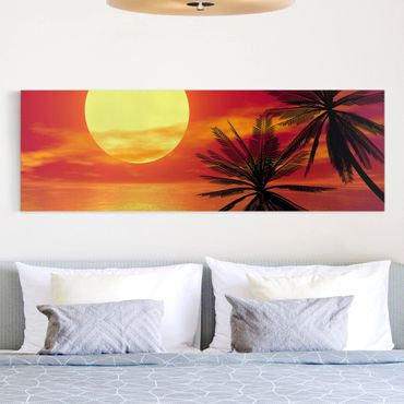 Stampa su tela - Caribbean Sunset - Panoramico