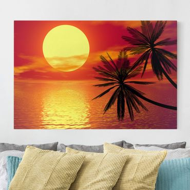 Stampa su tela - Caribbean sunset - Orizzontale 3:2