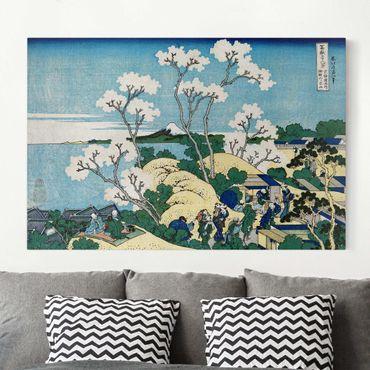Stampa su tela - Katsushika HokUSAi - The Fuji from Gotenyama in Shinagawa - Orizzontale 3:2