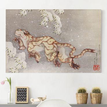Stampa su tela - Katsushika HokUSAi - Tiger in a Snowstorm - Orizzontale 3:2