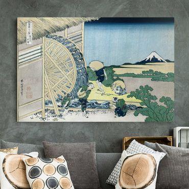 Stampa su tela - Katsushika HokUSAi - Waterwheel at Onden - Orizzontale 3:2