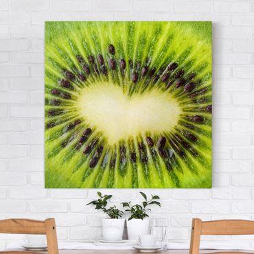 Stampa su tela - Kiwi Heart - Quadrato 1:1
