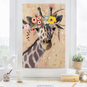 Stampa su tela - Klimt Giraffe - Verticale 2:3