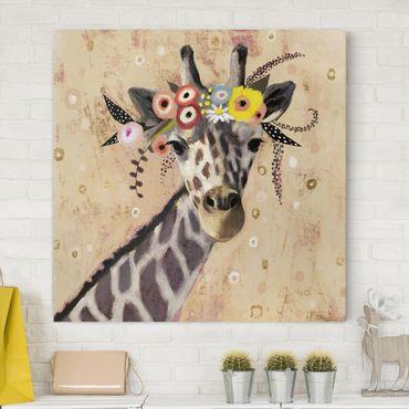 Stampa su tela - Klimt Giraffe - Quadrato 1:1