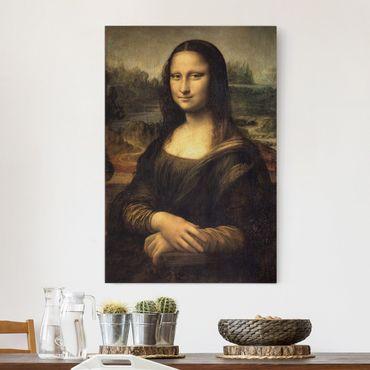 Stampa su tela Leonardo da Vinci - Gioconda - Verticale 2:3