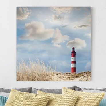 Stampa su tela - Lighthouse In The Dunes - Quadrato 1:1