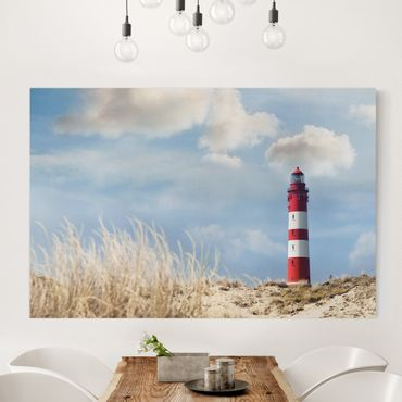 Stampa su tela - Lighthouse in the dunes - Orizzontale 3:2