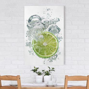 Stampa su tela Lime Bubbles - Verticale 2:3