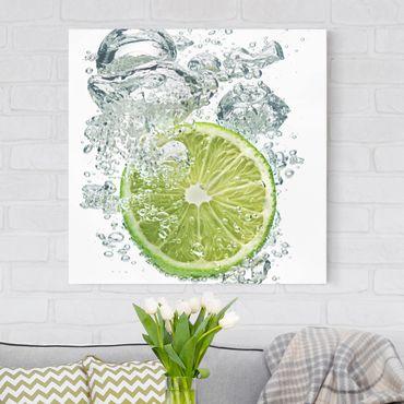 Stampa su tela - Lime Bubbles - Quadrato 1:1