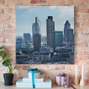 Stampa su tela - London Skyline - Quadrato 1:1