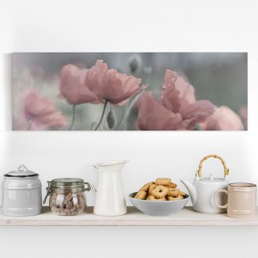 Stampa su tela - Painterly Poppies - Panoramico