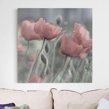 Stampa su tela - Painterly Poppies - Quadrato 1:1