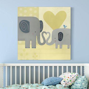 Stampa su tela - Mum And I - Elephants - Quadrato 1:1