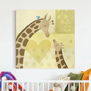 Stampa su tela - Mum And I - Giraffes - Quadrato 1:1