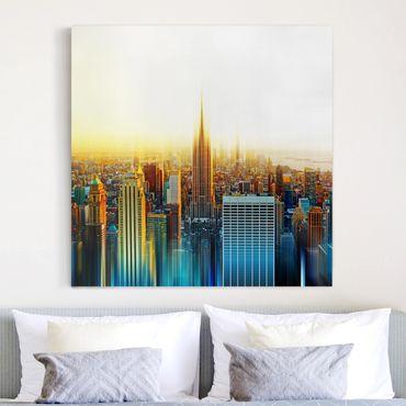 Stampa su tela - Manhattan Abstract - Quadrato 1:1