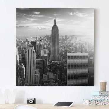 Stampa su tela - Manhattan Skyline - Quadrato 1:1