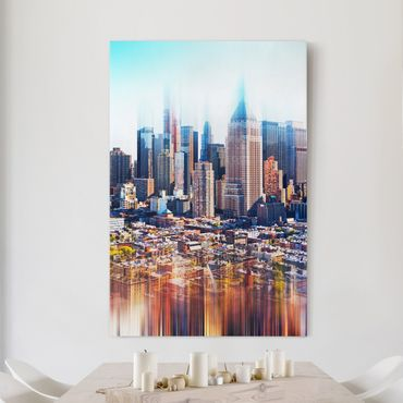 Stampa su tela Manhattan Skyline Urban Stretch - Verticale 2:3