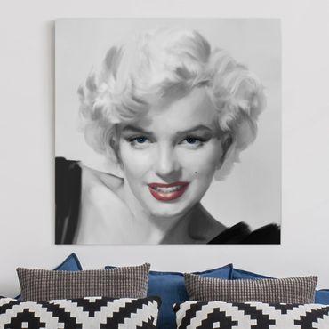 Stampa su tela - Marilyn sul divano - Quadrato 1:1