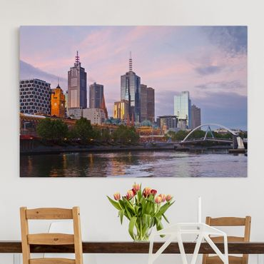 Stampa su tela - Melbourne at sunset - Orizzontale 3:2