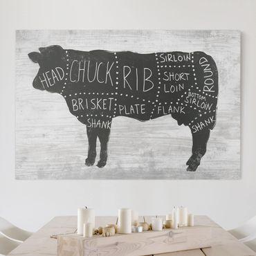 Stampa su tela - Butcher Board - Manzo - Orizzontale 3:2