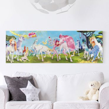 Stampa su tela - Mia And Me - Unicorns Of Centopia - Panoramico