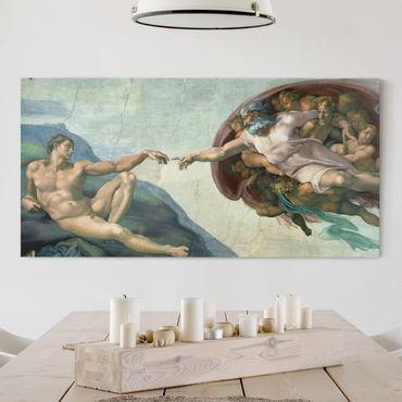 Stampa su tela - Michelangelo - La Cappella Sistina: Creazione di Adamo - Orizzontale 2:1