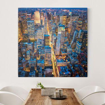 Stampa su tela - Midtown Manhattan - Quadrato 1:1