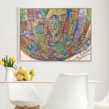 Stampa su tela - Modern Map Of St. Louis - Orizzontale 4:3
