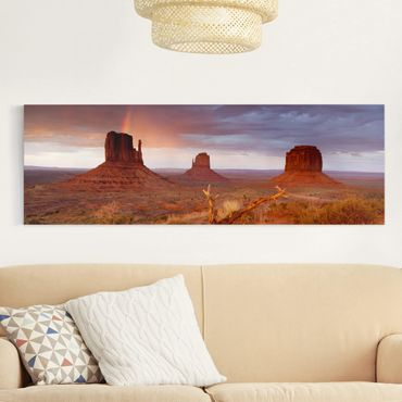 Stampa su tela - Monument Valley At Sunset - Panoramico