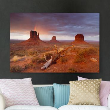 Stampa su tela - Monument Valley at sunset - Orizzontale 3:2