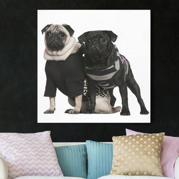 Stampa su tela - Pug Fashion - Quadrato 1:1