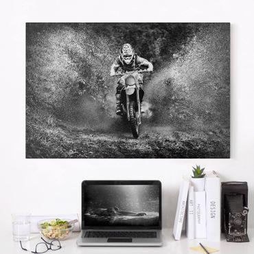 Stampa su tela - Motocross nel Fango - Orizzontale 3:2
