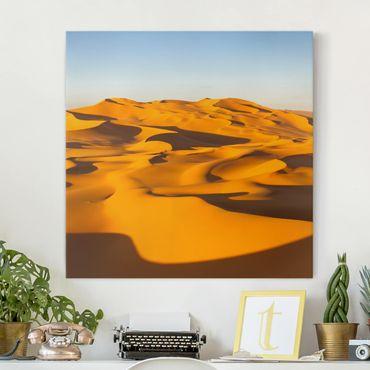 Stampa su tela - Murzuq Desert In Libya - Quadrato 1:1