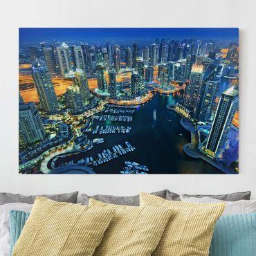 Stampa su tela - Nocturnal Dubai Marina - Orizzontale 3:2