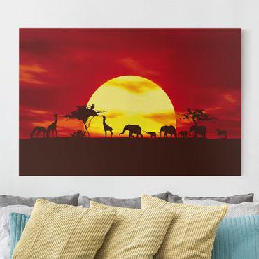 Stampa su tela - No.CG80 Sunset Caravan - Orizzontale 3:2
