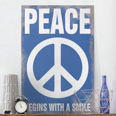 Stampa su tela No.KA18 Peace - Verticale 2:3