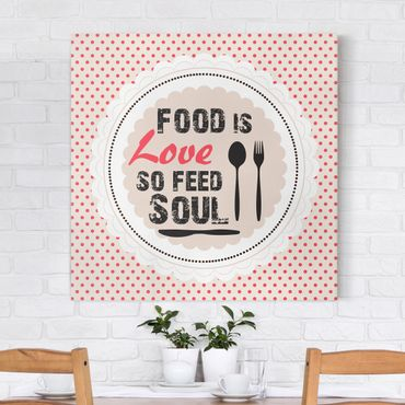Stampa su tela - No.KA27 Food Is Love - Quadrato 1:1