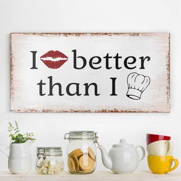 Stampa su tela - No.KA29 I Kiss Better - Orizzontale 2:1
