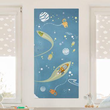 Stampa su tela - No.MW16 Colorful Space Bustle - Verticale 1:2