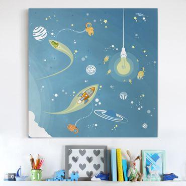 Stampa su tela - No.MW16 Colorful Space Bustle - Quadrato 1:1