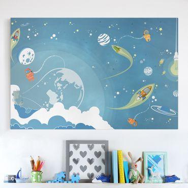 Stampa su tela - No.MW16 Colorful Space bustle - Orizzontale 3:2
