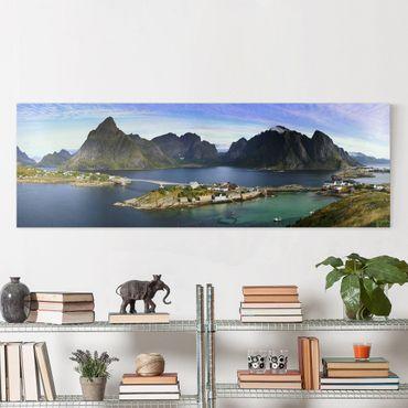 Stampa su tela - Nordic Paradise - Panoramico