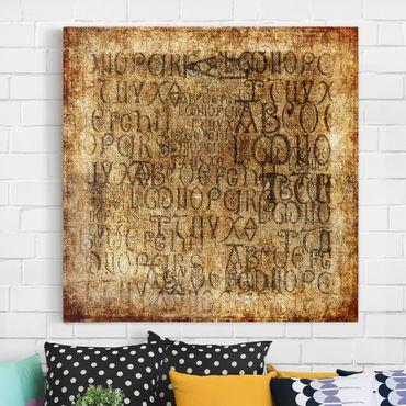 Stampa su tela - Old Letters - Quadrato 1:1