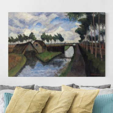 Stampa su tela - Otto Modersohn - The Rautendorf Canal with Boat House near Worpswede - Orizzontale 3:2