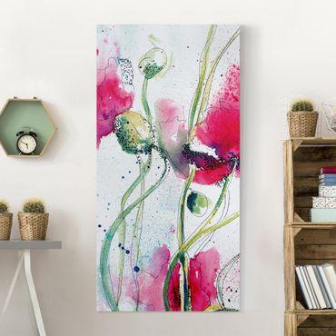 Stampa su tela - Painted Poppies - Verticale 1:2
