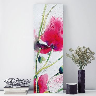 Stampa su tela - Painted Poppies - Pannello