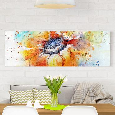 Stampa su tela - Painted Sunflower - Panoramico