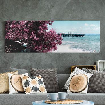 Stampa su tela - Paradise Beach Isla Mujeres - Panoramico
