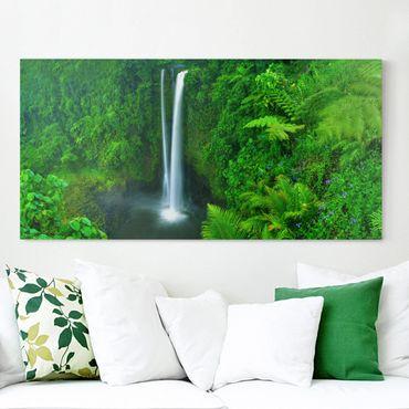 Stampa su tela - Paradisiacal Waterfall - Orizzontale 2:1