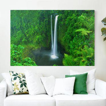 Stampa su tela - paradisiacal waterfall - Orizzontale 3:2